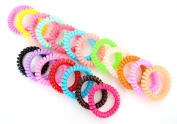 Pack of 20 x Little Darling/Elastic Telephone Wire Bracelet - Pastel + Spring