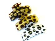 Lapeach Fashions New Pokka Dot 7cm Hair Clamps Clips Grips Hair Claw Set Of Three
