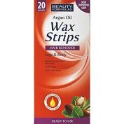 3 X Beauty Formulas Argan Oil Wax Strips 20's Legs & Body All Skin Types