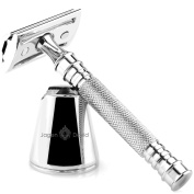 Jagen David ® D3 - Double Edge Razor with Stand - Safety Razor Fits All Double Edge Razor Blades unique Christmas gift for him