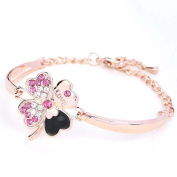 TSLME® H15BPINK New Clover SHAPE MADE WITH. ELEMENTS Crystals Lady Women Jewellery Gift