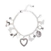 Disney Cinderella CIND15026 15cm FJ1585 Fairytale Girls Silver Tone Multi-Charm Bracelet