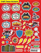 Vacation Bible School 2017 Vbs Hero Central Craft Theme Stickers (Pkg of 12)