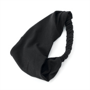 EXTRA WIDE 16.5CM BLACK HEADBAND HEADWRAP USEFUL FOR KEEPING HAIR FROM FACE