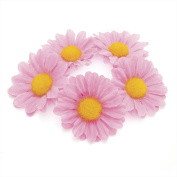 Daisy Flower Bun Ring Garland Scrunchie Elastic Hair Band (PINK).