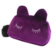 Bluelans® Cute Cartoon Cat Cosmetic Makeup Storage Bag Pen Pencil Pouch Case