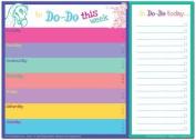 Dodo Daily to Do List Notepad (A4) Bright