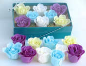 Rose Bath Bomb, Nine Colourful Charing Rose Flower with green long box, 6