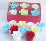 Rose Bath Bomb, Nine Colourful Charing Rose Flower with pink long box, 4
