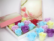 Bath Bombs, Rose Bath Bomb, Nine Colourful Charing Rose Flower with flower gift box.
