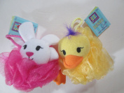 Bunny & Chick Bath Net Sponge and Terry heads & limbs