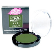Mehron E.Y.E Cream Eye Shadow/Liner Makeup (Dark Olive Green) by Morris Costumes