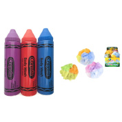 Crayola Body Wash Pens (Bundle of 3 Colours) with 1 Colour Changing Mesh Sponge