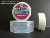 Pro Flex II Hair Extension Tape Double Side Adhesive 0.6cm X 6 yrd w/ Plastic storage case