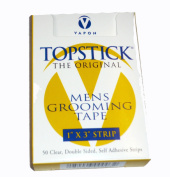 (1) Vapon Topstick 2.5cm x 7.6cm Strip Mens Grooming Tape (50 Strips in Box) & (1) Jorgen Leave-On Conditioner - 240ml Especially Designed for Human Hair Wigs
