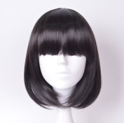 Lycoris Short Hair Wig Natural As Real Hair Cosplay Wigs Neat Bangs Bob Wigs