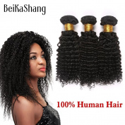 BeiKaShang Brazilian Kinky Curly Virgin Hair 3Bundles Brazilian Afro Kinky Curly Virgin Hair Brazilian Virgin Hair Human Hair Extensions 14x14x16
