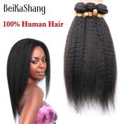 Brazilian Virgin Hair Kinky Straight 3Bundles 100% Human Hair Brazillian Yaki Straight Hair Brazilian Virgin Hair Coarse Yaki 16x18x18