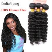 BeiKaShang Brazilian Deep Wave Virgin Hair100% Brazilian Human Hair Weave 3Bundle Cheap Brazilian Curly Virgin Hair Brazilian Deep Wave 10x10x10