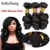 BeiKaShang Brazilian Hair 3 Bundles 8A Brazilian Loose Wave Virgin Hair Mink Brazilian Hair Weave Bundles Human Hair Brazilian Loose Wave 10x10x10
