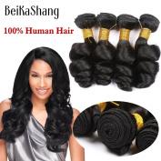 BeiKaShang Unprocessed 8A Virgin Peruvian Loose Wave 4pcs/lot, No Shedding No Tangle Loose Wave Human Hair Bundles. 12x12x12x12