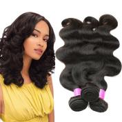 Flady Hair Brazilian Body Wave Virgin Hair 3 Bundles 7A Unprocessed Virgin Brazilian Hair Bundles Deal Human Hair Weave Extension Natural Black Colour