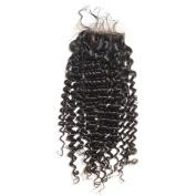 BEFA Hair Brazilian Virgin Hair Deep Curl Silk Base Closure 4x 4 Human Hair Closure Swiss Lace Bleached Knots Naturl Black