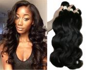 MsTaj 7A Brazilian Virgin Hair Body Wave 100% Human Hair 3 Bundles Natural Colour