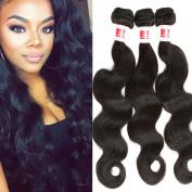 YIZE Hair 7A Brazilian Virgin hair Weave Body Wave 10 12 36cm 3Bundles 7A 100% Unprocessed Brazilian Human Hair Extensions Naural Colour