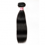 Fabeauty 7A Unprocessed Peruvian Straight Hair 1 Bundle 20cm - 70cm HIGHEST QUALITY 100% Virgin Human Hair Silky Straight Weave Human Hair Extensions 1B# Natural Black