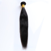 Chic Crown 4a Virgin Brazilian Straight Weave with 100% Unprocessed Virgin Human Hair Natural Colour