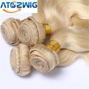 ATOZHair Ombre Brazilian Hair 3 Bundles Total 150g Brazilian Body Wave #613 Blonde Ombre Human Hair Weave Brazilian Virgin Hair Ombre Hair Extensions