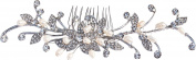 Bellady Elegant Wedding Bridal Hair Comb Pearl Crystal Flower Design Hair Bridal Headpiece