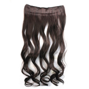 Fashion 3/4 Full Head Fully Synthetic Clip In Long Curly Wavy Hairpiece