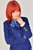 Ezcosplay® Japanese Anime LoveLive Maki Nishikino Cosplay Wig Short Synthetic Hair Wigs Costume and a Wig Cap