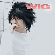 Ezcosplay® Japanese Anime Note L Lawliet Wig Cosplay Short Synthetic Hair Wigs Costume and a Wig Cap
