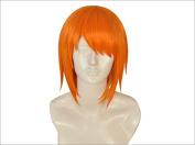 Netgo Nami Women Cosplay Wig Orange Short Straight Synthetic Custome Wig