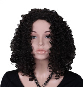 Modotop Women's Long Straight Hair Black Heat Resistant Fibre Synthetic Wigs Swept Bangs Full Sexy Stylish Fluffy Wigs