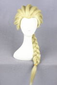 Prettybuy 48cm Synthetic Blonde Hair Fluffy Hair with Long Ponytail Braided Hair Lolita Style Harajuku Cute Adorable Wig Heat Resistance Fibre Wig for Daily Use, Cosply, Parties and Halloween
