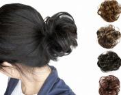 FESHFEN Scrunchy Scrunchie Bun Updo Hairpiece Hair Ribbon Ponytail Extensions Drawstring Hair Extension Bleach White Blonde Scrunchie Hairpiece