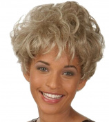 Modotop Women Silvery White Short Straight Heat Resistant Synthetic Hair Swept Bangs Sexy Stylish Fluffy Wig