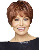 Modotop Women Light Brown Short Straight Heat Resistant Synthetic Hair Swept Bangs Sexy Stylish Wig