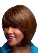 Modotop Women Deep Brown Short Straight Heat Resistant Synthetic Hair Swept Bangs Sexy Stylish Wig