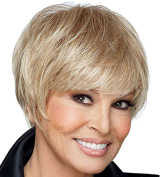 Modotop Women's Silvery White Short Straight Heat Resistant Synthetic Hair Swept Bangs Sexy Stylish Wig