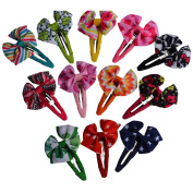 Bzybel 5.1cm - 6.4cm Boutique Hair Bows Clips Grosgrain Ribbon Bows for Baby Kids Keens Little Girls Barrettes
