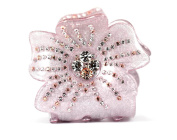 CHRYSE SMALL FLORAL RHINESTONE HAIR CLAMP CLAW CLIP BARRETTE C728 PURPLE