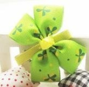 Colourful Baby World Pretty Butterfly Floral Bow Girl Hair Clips - Green-Yellow Big Floral Bow