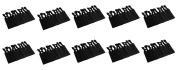 JLIKA Elastic Hair Ties (SET OF 100) Black Colour - No Crease Ouchless Ponytail Holders, Ribbon Hairties for Women Girls Teens and Kids