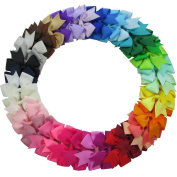 Hair Bows , Ambielly 40Pcs Baby Girl Headbands Grosgrain Ribbon Boutique Hair Bows Alligator Clips For Teens Kids