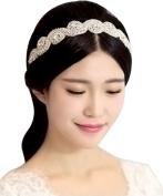 Luxury Diamond Hoop Bridal Wedding Yarn Hair Accessories